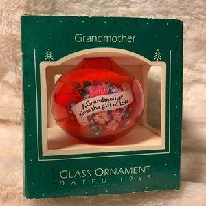 Vintage Hallmark 1985 Grandmother Ornament